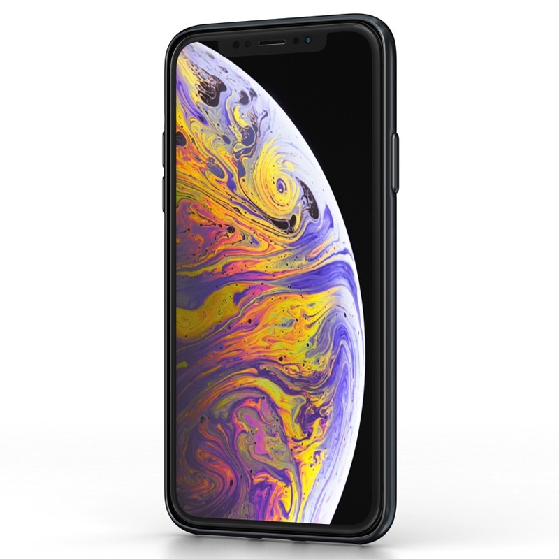 BeHello ThinGel Case iPhone XS Max Zwart 02