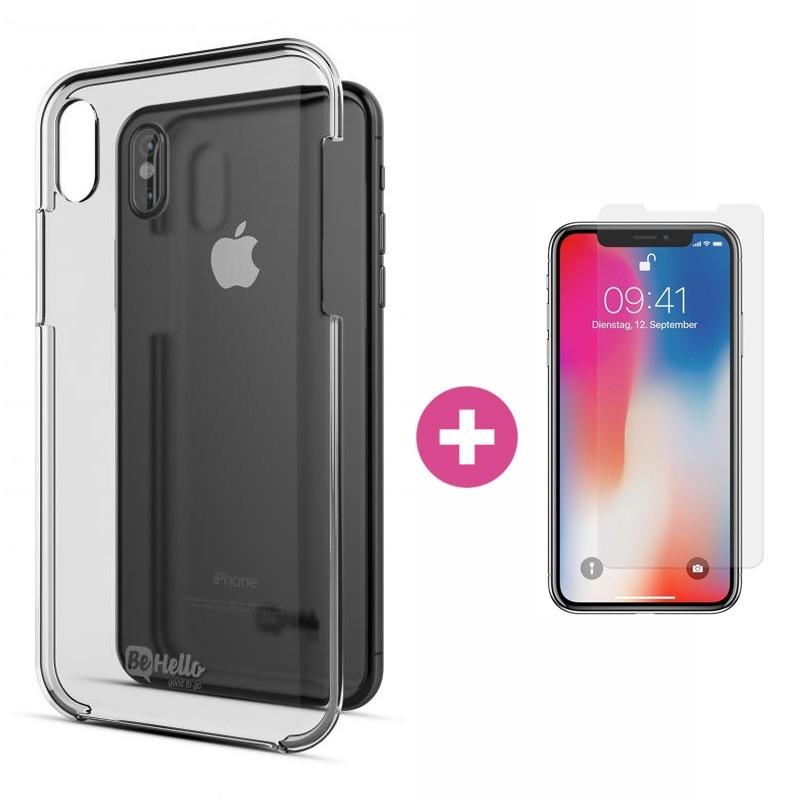 BeHello - Transparante Hard Case iPhone X/XS - 1
