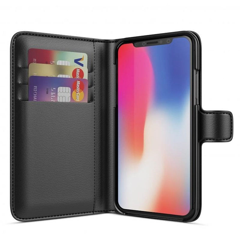 BeHello Wallet Case voor Apple iPhone X/Xs Zwart 01