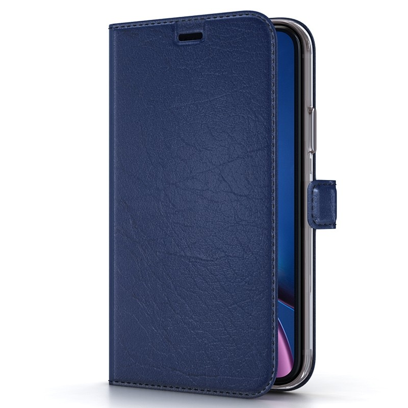 BeHello Wallet Case iPhone XR Blauw 01