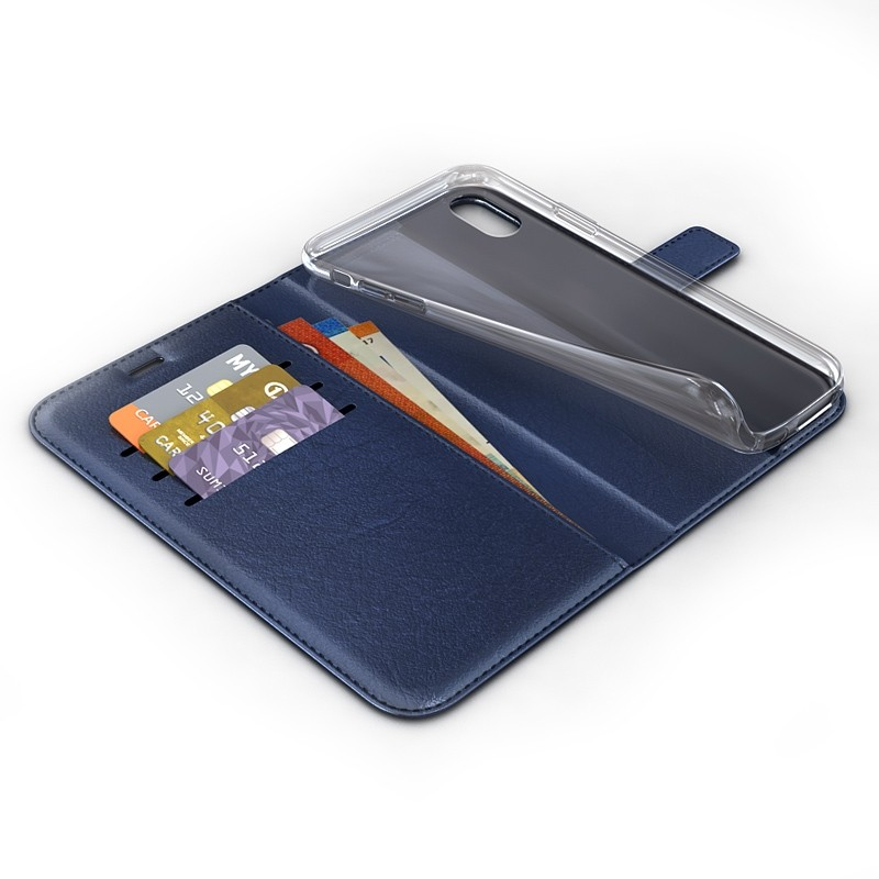BeHello Wallet Case iPhone XR Blauw 03