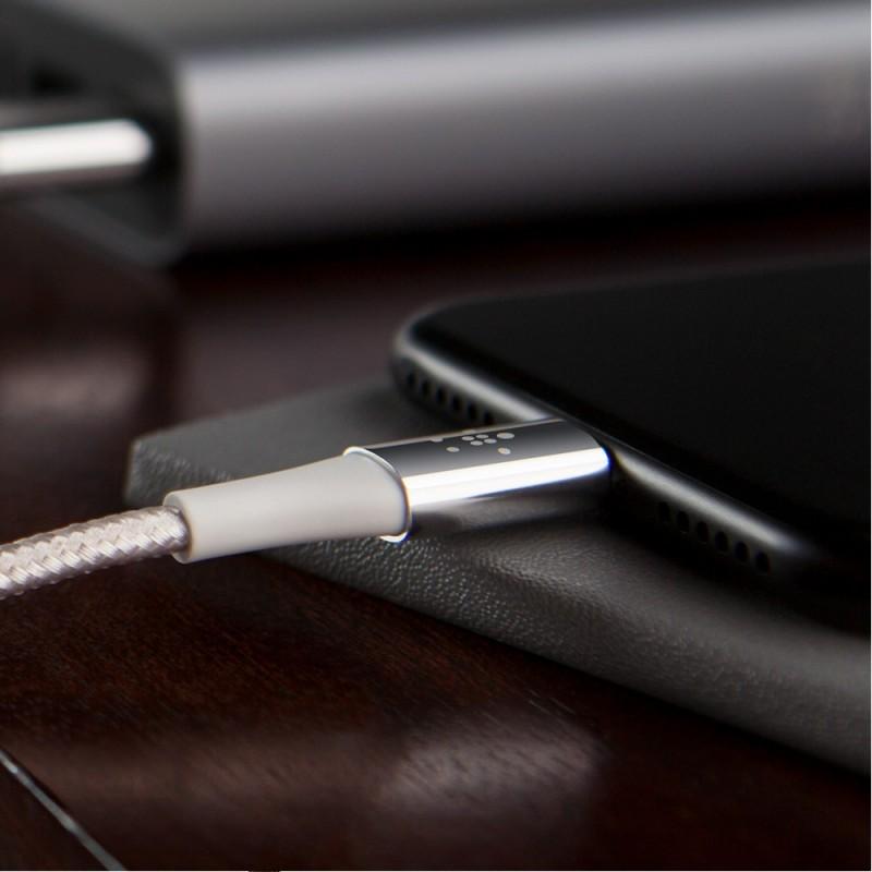 Belkin DuraTek USB-C / USB-A Kabel 120cm Zilver - 4