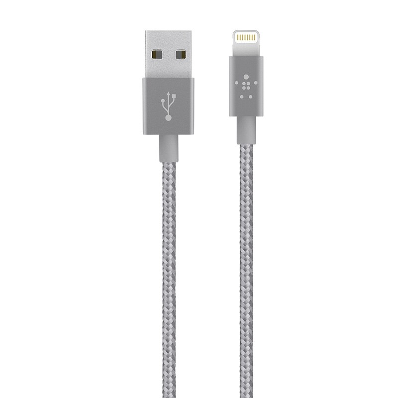 Belkin - Premium Metallic Lightning Kabel 1,2 meter Grey 01