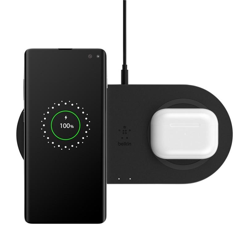 Belkin Dual Wireless Charging Pad 10W Zwart 05