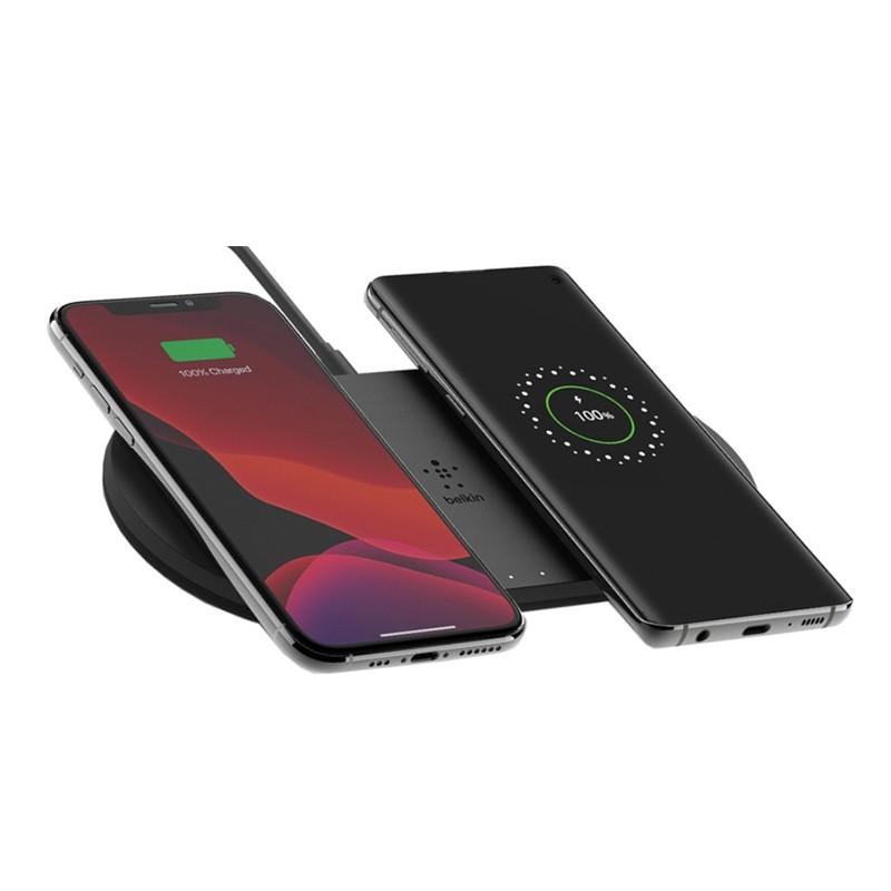 Belkin Dual Wireless Charging Pad 10W Zwart 01