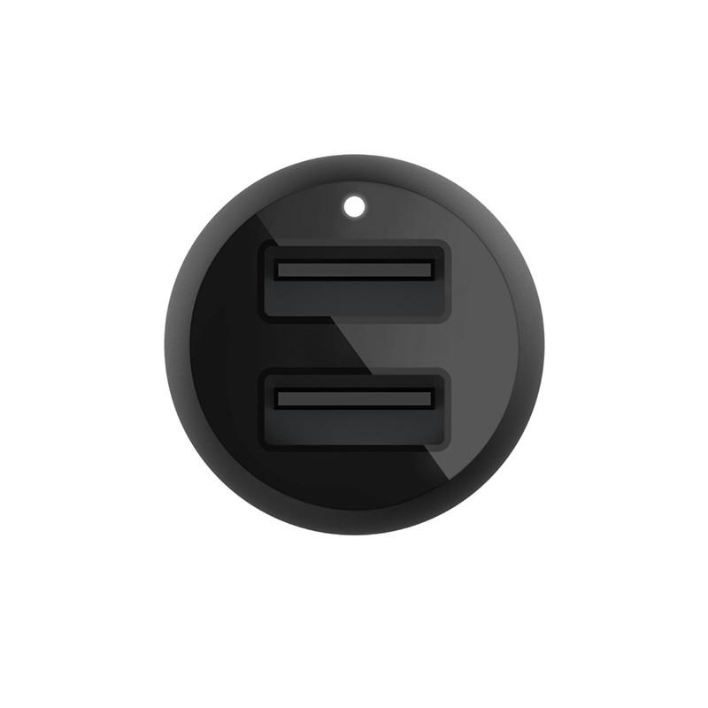 Belkin Dual Port USBA Autolader 24W Zwart 04