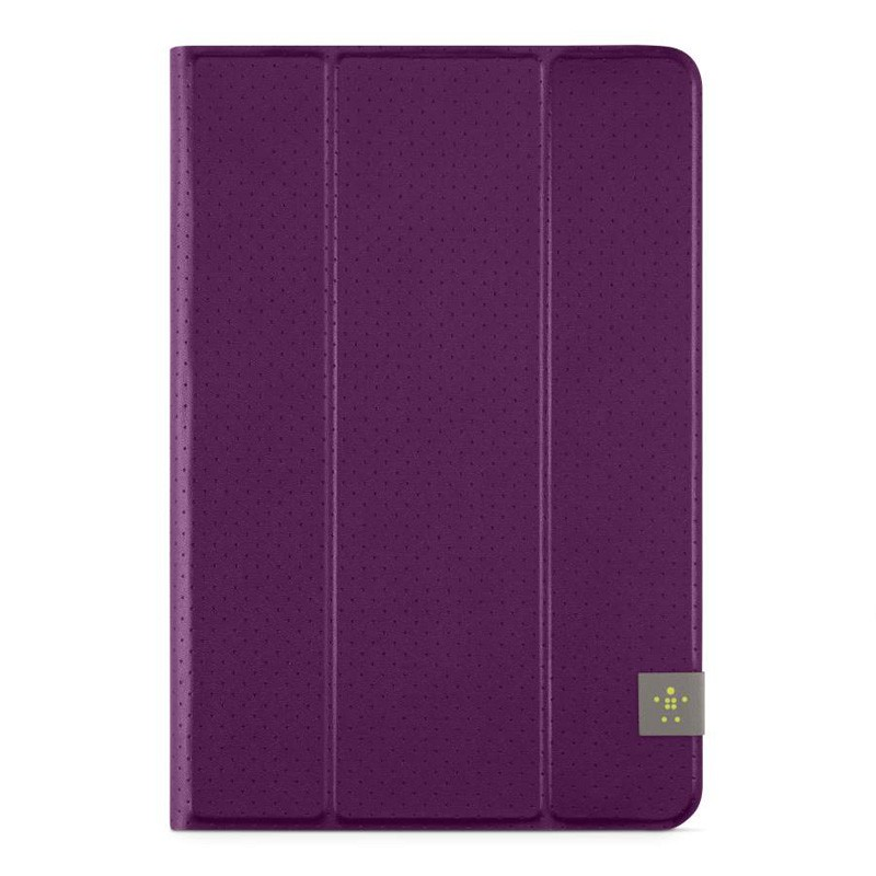 Belkin Twin Stripe Folio iPad mini (2019), iPad mini 4 Purple - 1