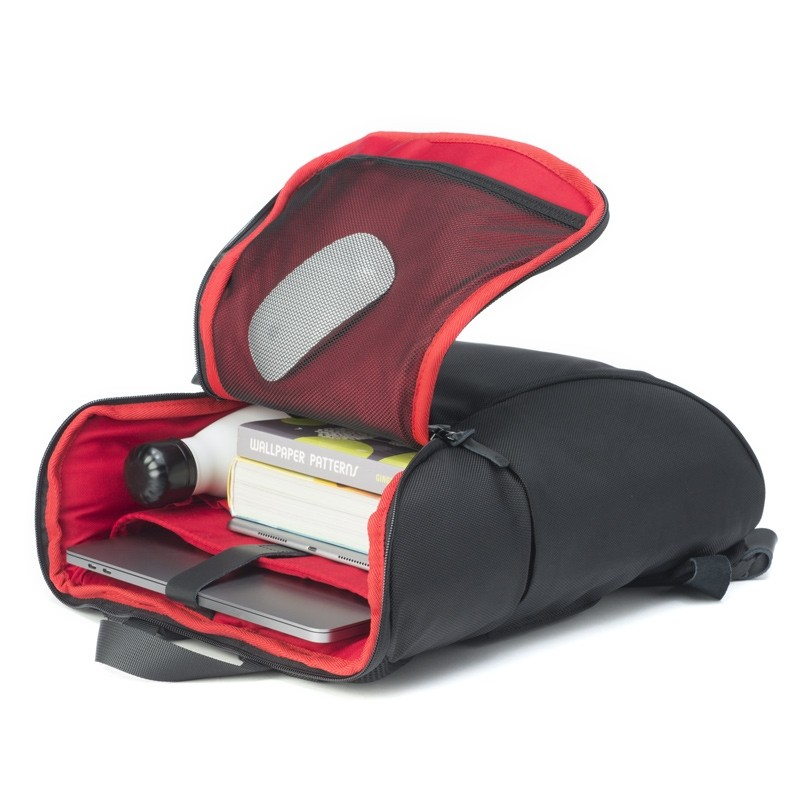 Booq Daypack 15,6 inch Laptop Rugzak Zwart/Rood 03