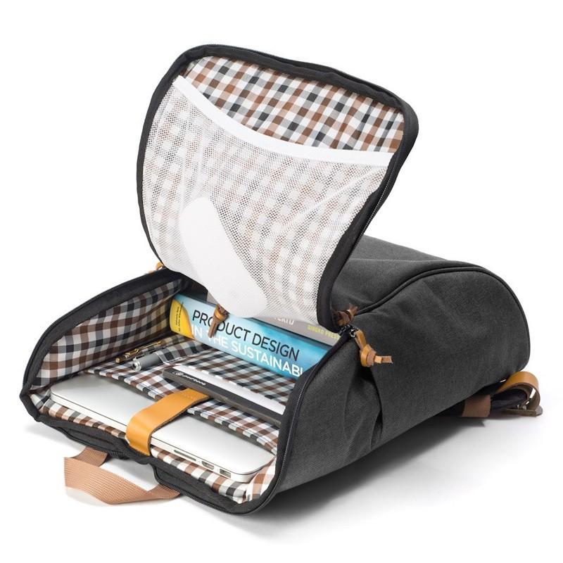 Booq - Daypack 15,6 inch Laptop Rugzak Black Tan 06