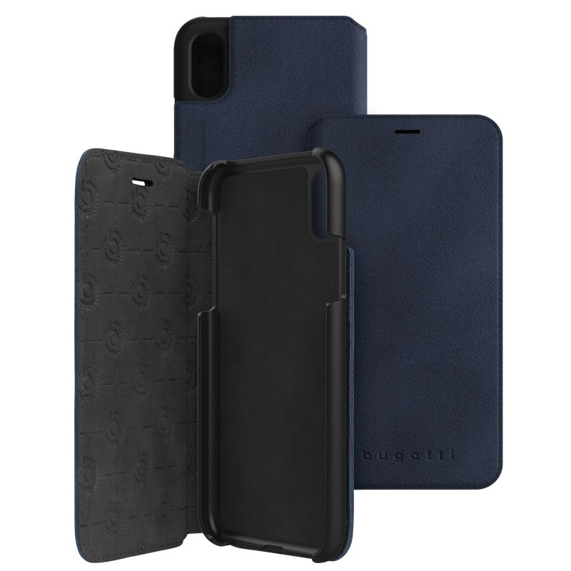 Bugatti Parigi Ultra Suede iPhone X/Xs Blue - 1