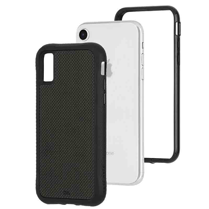 Case-Mate Protection Collection iPhone XR Hoes Zwart Carbon 03