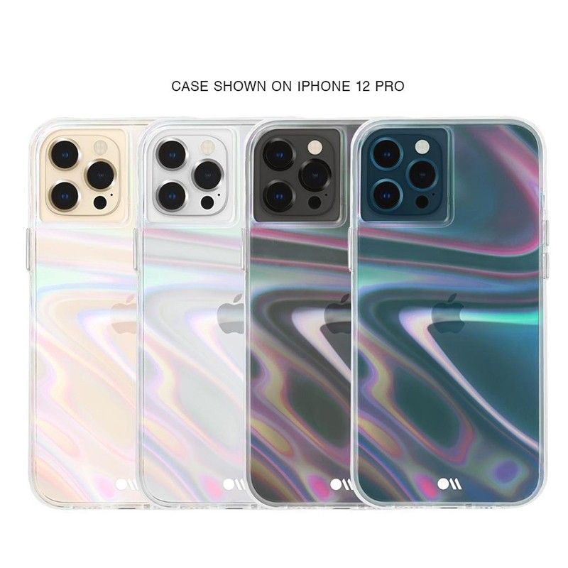 Case-Mate Soap Bubble iPhone 12 / iPhone 12 Pro 6.1 inch Iridescent 04
