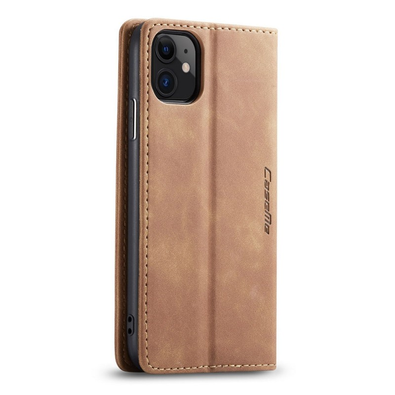 CaseMe Retro Wallet iPhone 11 Bruin - 2