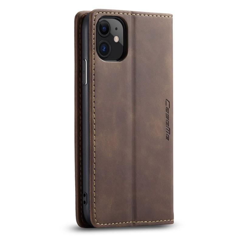 CaseMe Retro Wallet iPhone 11 Coffee - 4