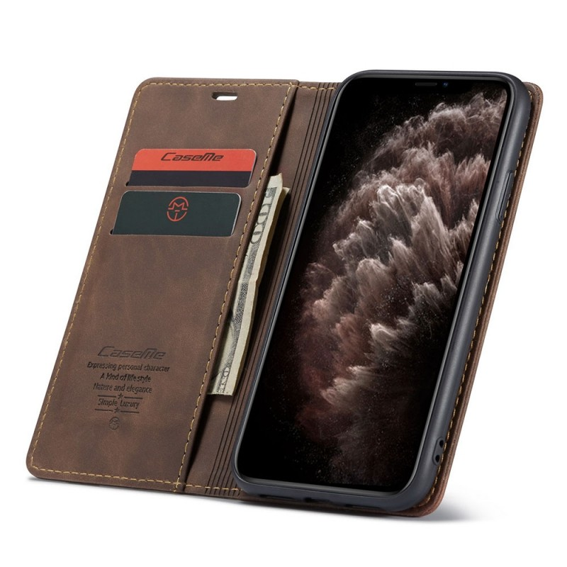 CaseMe Retro Wallet iPhone 11 Pro Max Coffee - 1