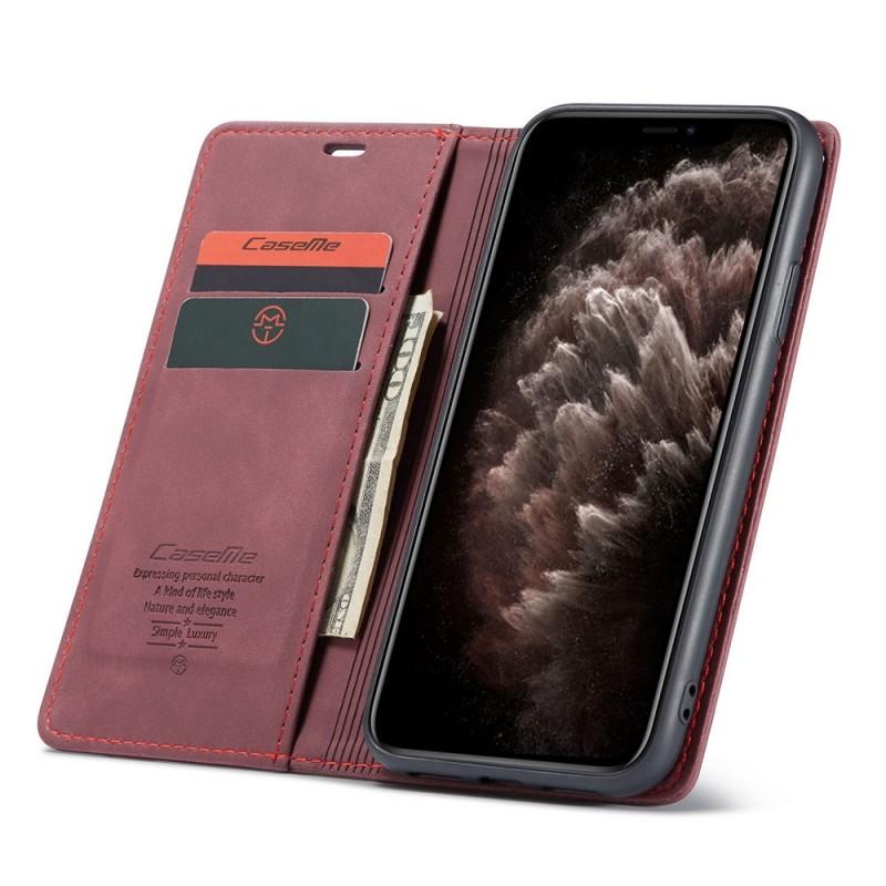CaseMe Retro Wallet iPhone 11 Paars - 1