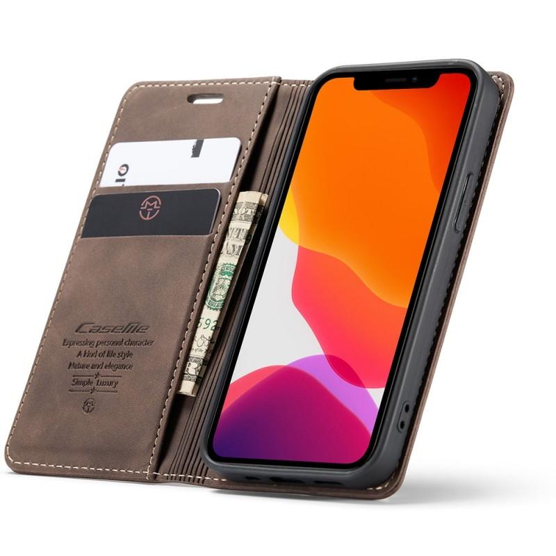 CaseMe Retro Wallet iPhone 12 Mini 5.4 inch Coffee - 1