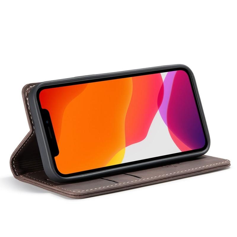 CaseMe Retro Wallet iPhone 12 Mini 5.4 inch Coffee - 2