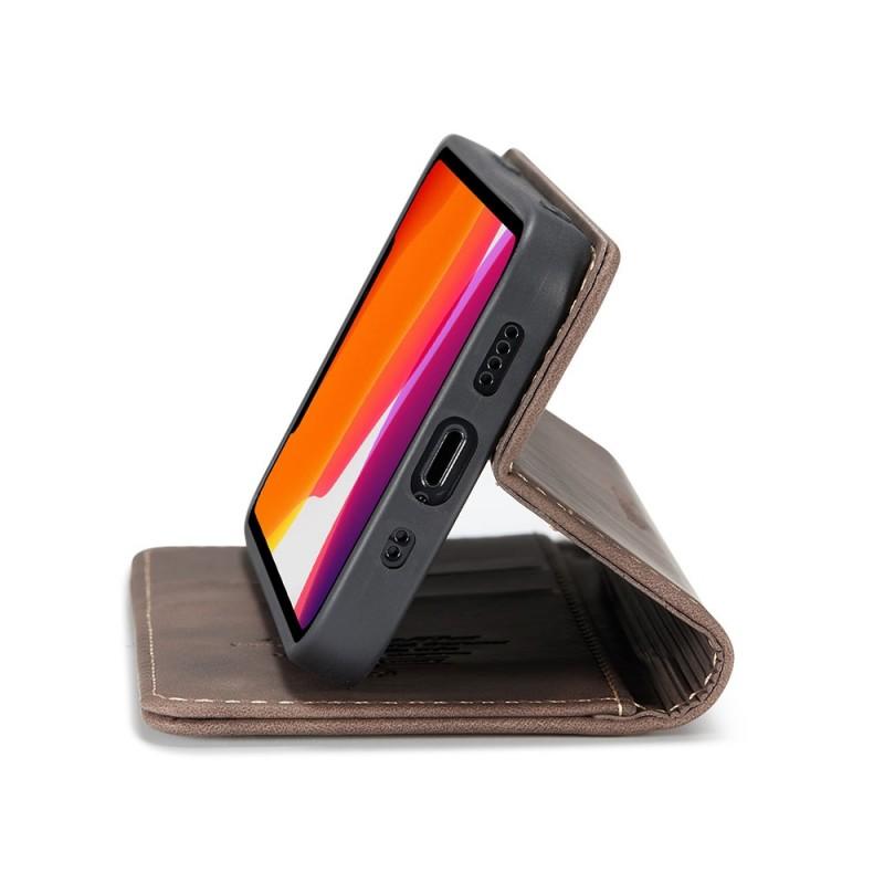 CaseMe Retro Wallet iPhone 12 Mini 5.4 inch Coffee - 3