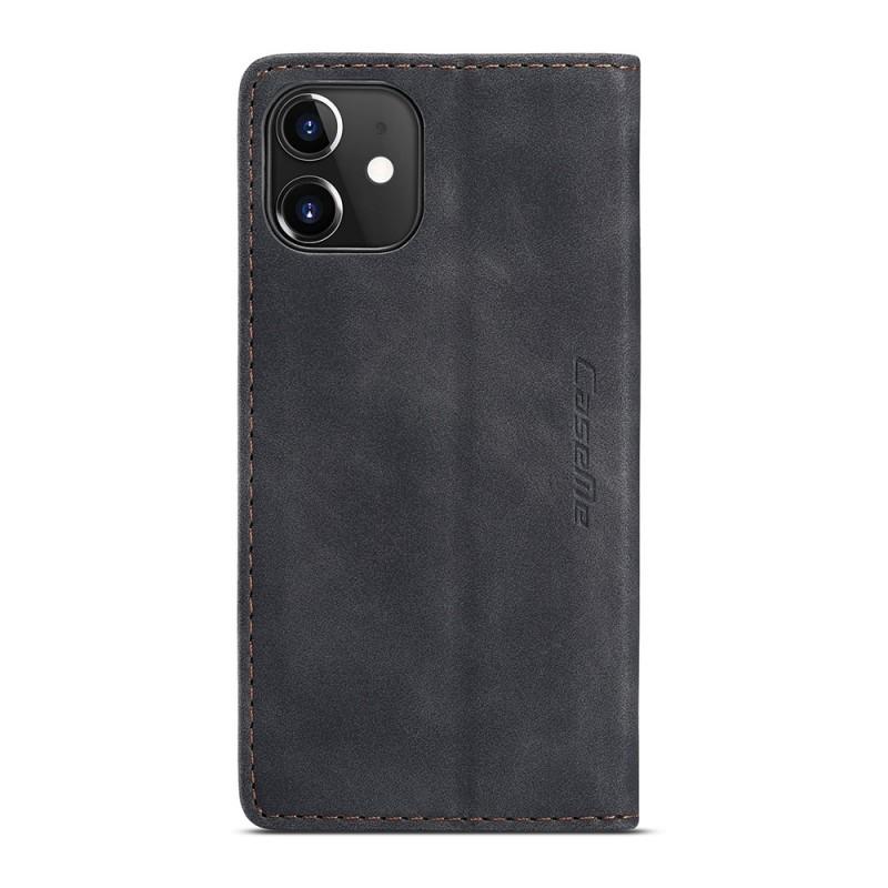 CaseMe Slim Retro Wallet iPhone 12 6.1 inch Zwart - 5
