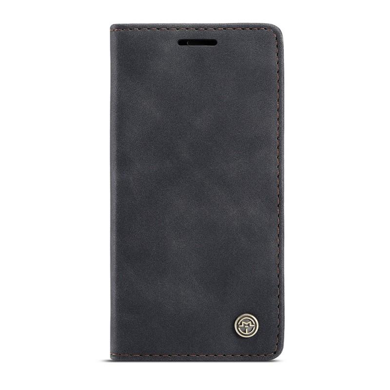 CaseMe Slim Retro Wallet iPhone 12 6.1 inch Zwart - 4