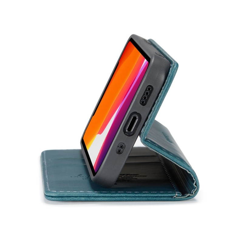 CaseMe Retro Wallet iPhone 12 Pro Max Blauw - 3