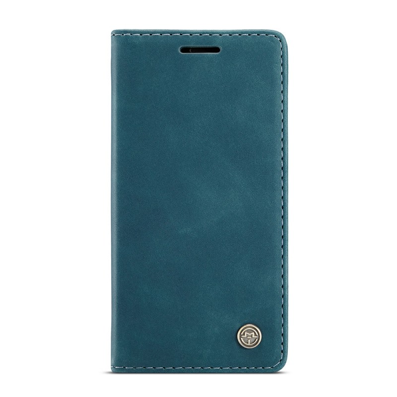 CaseMe Retro Wallet iPhone 12 Pro Max Blauw - 5