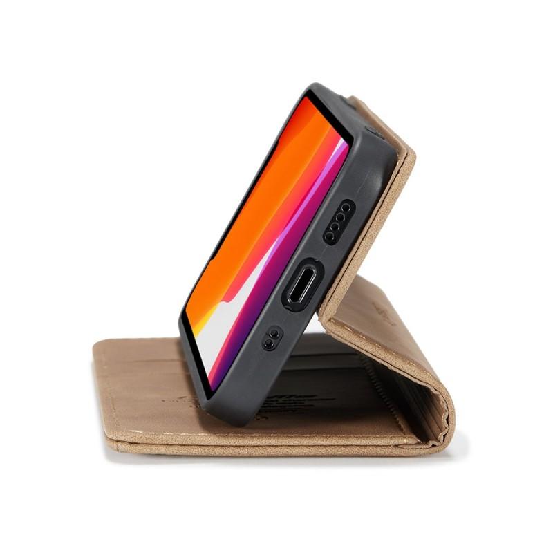 CaseMe Retro Wallet iPhone 12 6.1 inch Bruin - 5