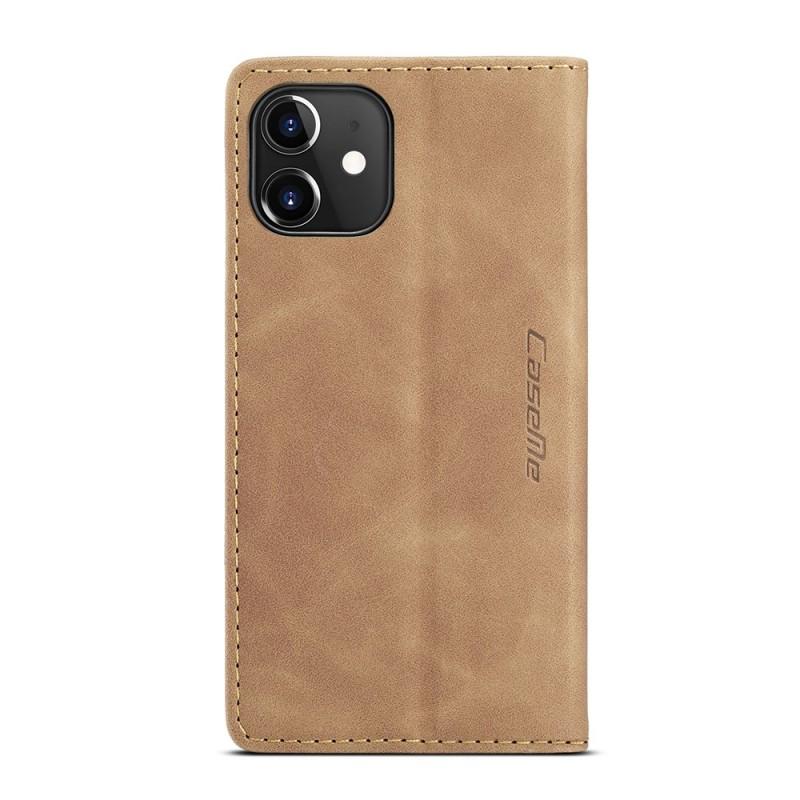 CaseMe Retro Wallet iPhone 12 6.1 inch Bruin - 4