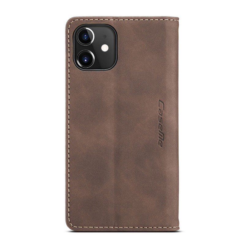 CaseMe Retro Wallet iPhone 12 6.1 inch Coffee - 4