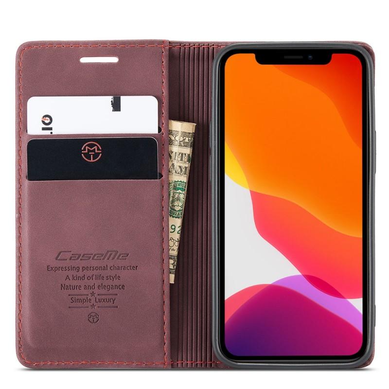 CaseMe Retro Wallet iPhone 12 6.1 inch Paars - 2