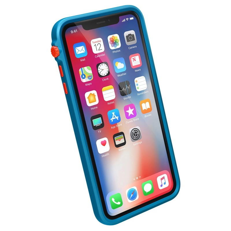 Catalyst Impact Protection Case iPhone XS Max Blauw / Transparant 03