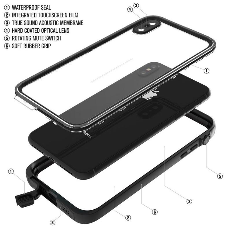 Catalyst Waterproof Case iPhone XS Max Zwart - 9