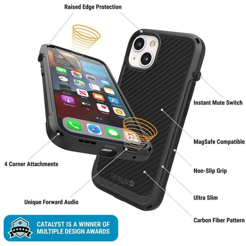 Catalyst Vibe Case MagSafe iPhone 13 Mini Zwart 03