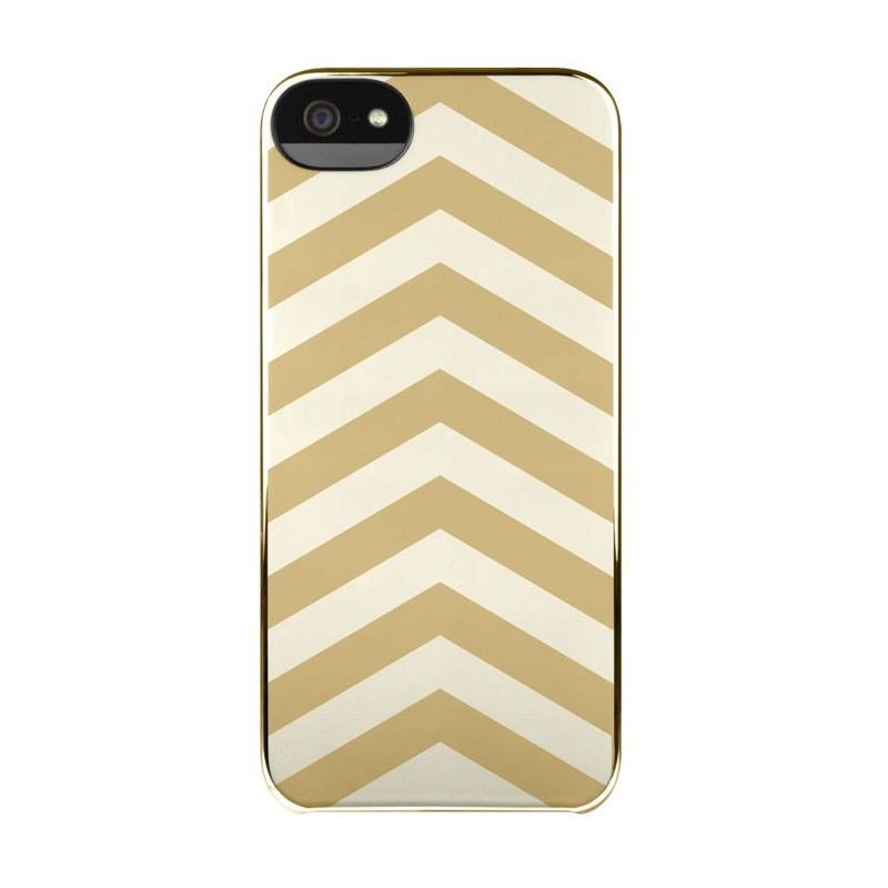 Incase Chevron Snap Case iPhone 5/5S White/Gold - 2