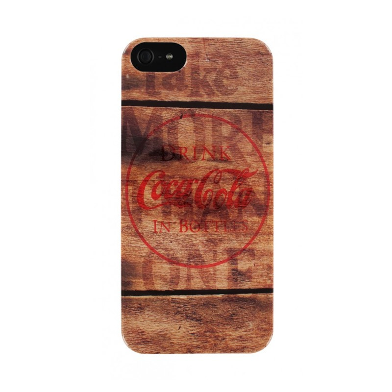 Coca Cola iPhone 5 Backcover Wood - 1