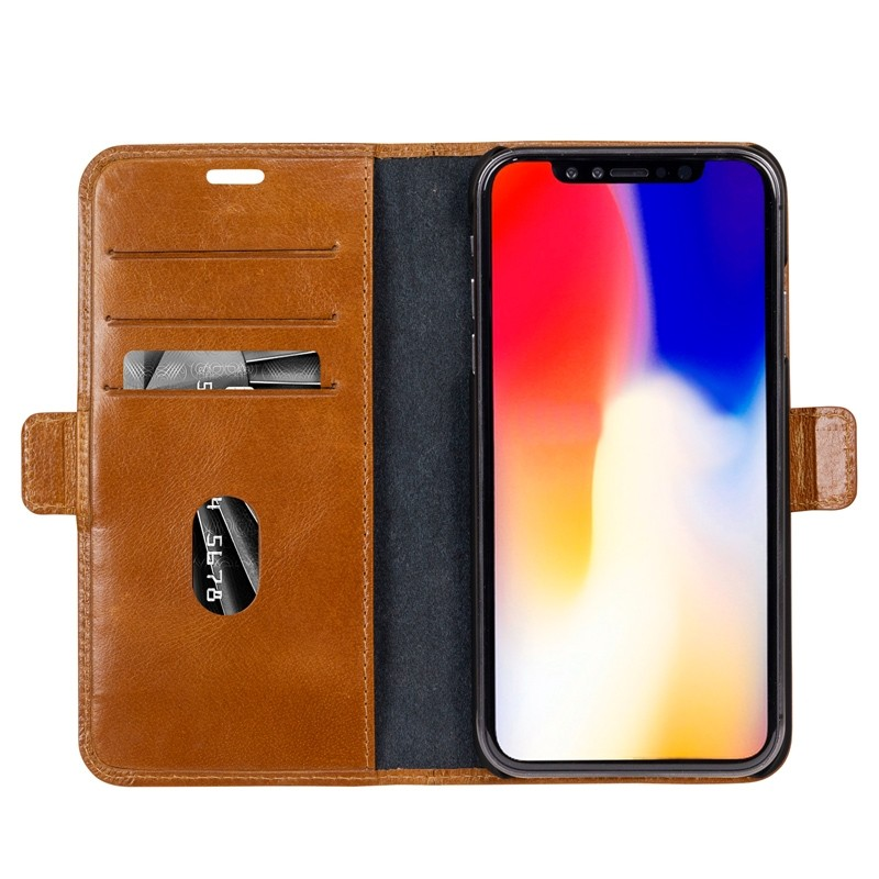 Dbramante1928 Copenhagen iPhone XR Wallet Bruin 03