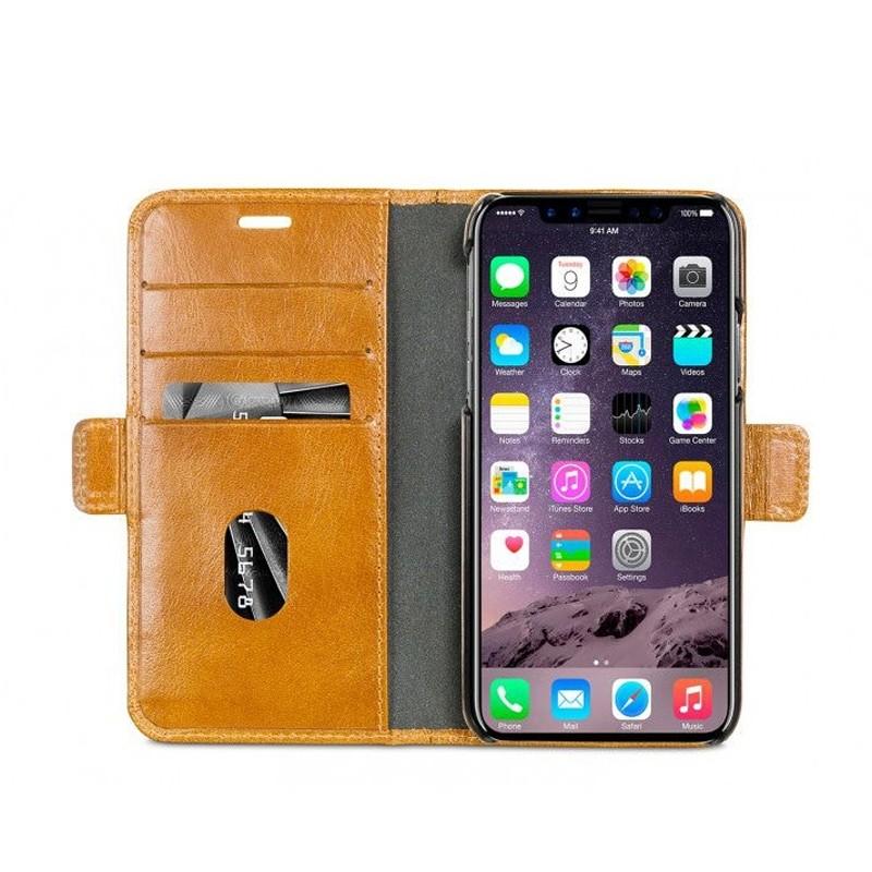 DBramante1928 Copenhagen 2 Wallet Hoes iPhone X/Xs Bruin 04