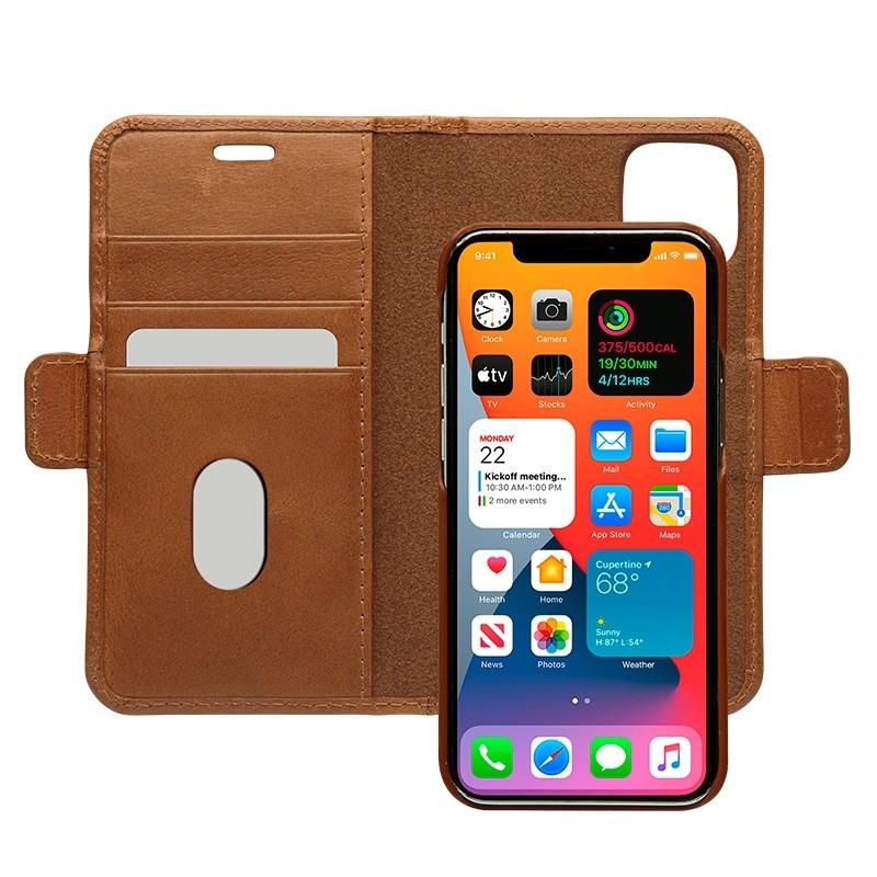Dbramante1928 - Lynge iPhone 12 Mini 5.4 inch Wallet Bruin 01