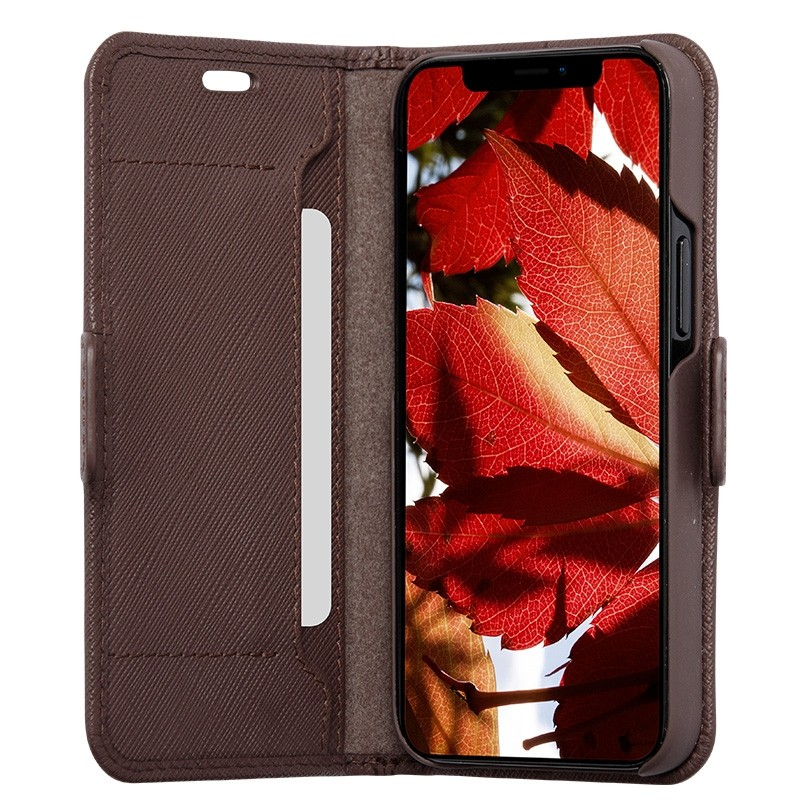Dbramante1928 Milano Wallet iPhone 12 Mini Dark Chocolate - 1