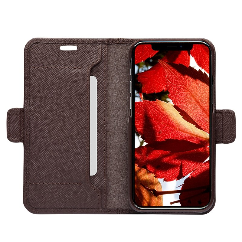 Dbramante1928 Milano Wallet iPhone 12 Mini Dark Chocolate - 4