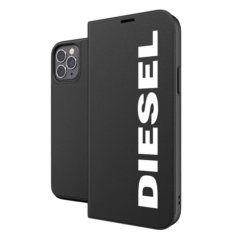 Diesel Booklet Case iPhone 12 / 12 Pro 6.1 zwart-wit 06