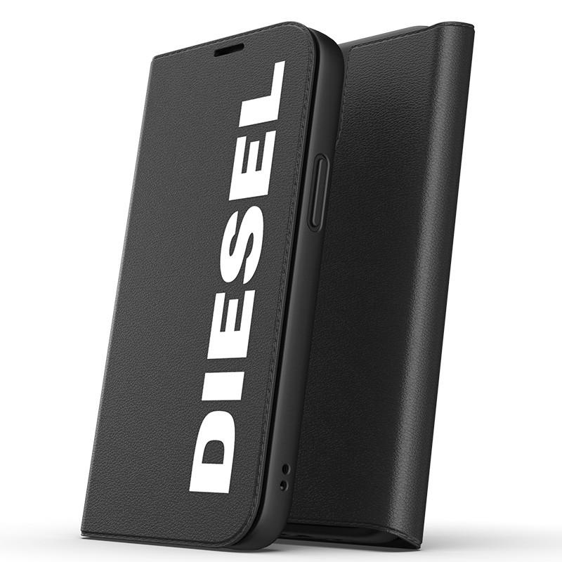 Diesel Booklet Case iPhone 12 Pro Max zwart-wit 01