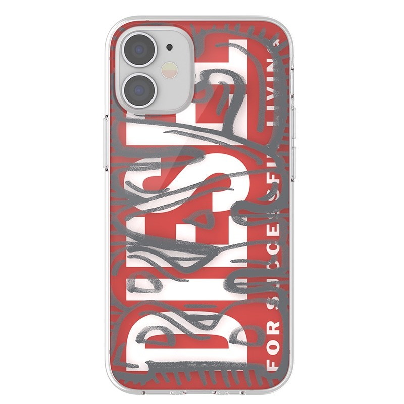 Diesel Snap Case Clear iPhone 12 Mini 5.4 clear red white 02