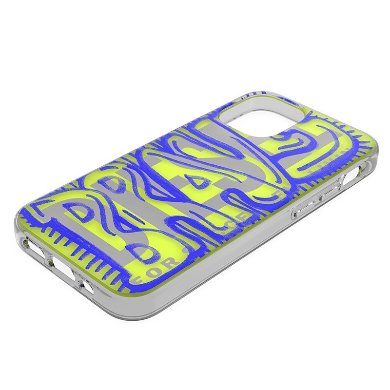 Diesel Snap Case Clear iPhone 12 Mini 5.4 clear yellow blue 04