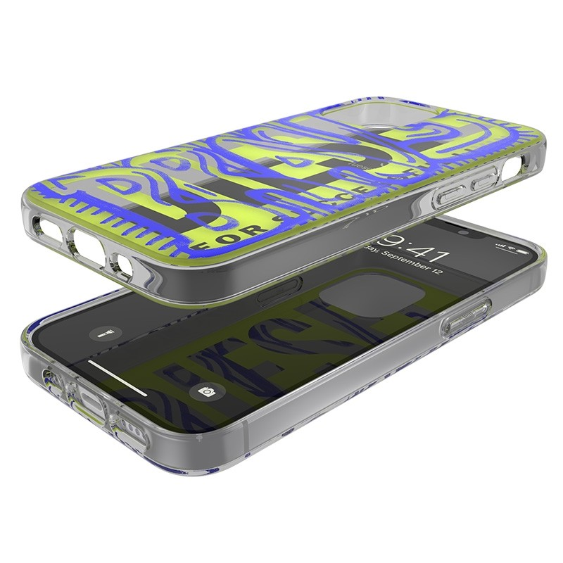 Diesel Snap Case Clear iPhone 12 Mini 5.4 clear yellow blue 06