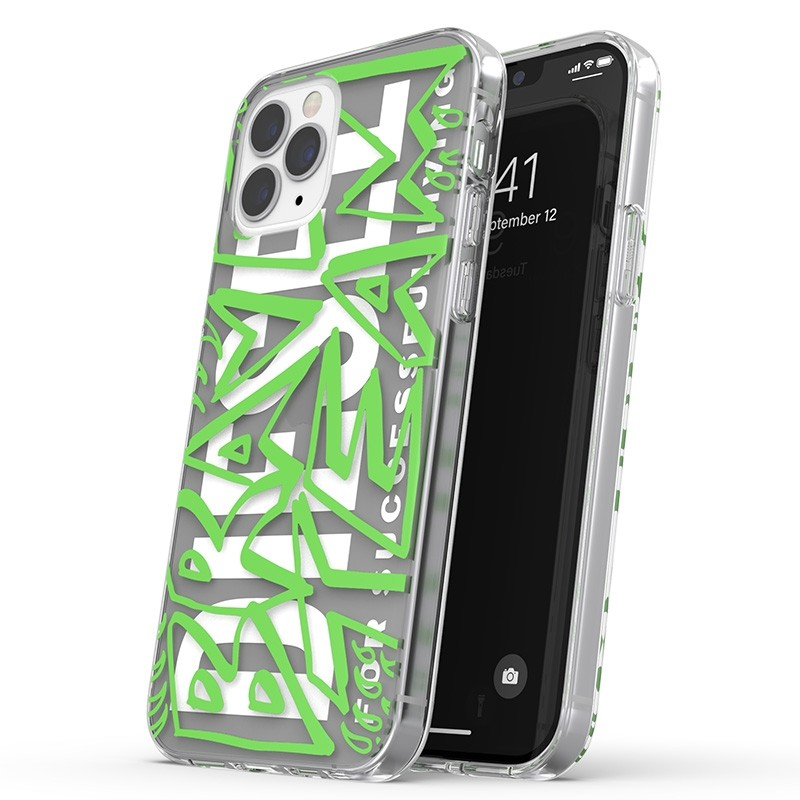 Diesel Snap Case Clear iPhone 12 / 12 Pro 6.1 clear green white 01