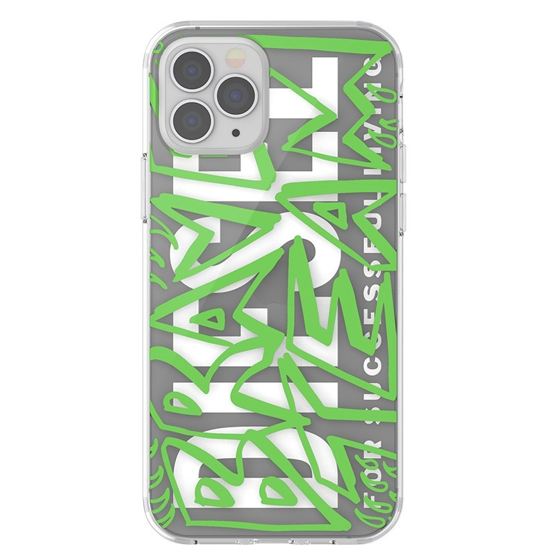 Diesel Snap Case Clear iPhone 12 / 12 Pro 6.1 clear green white 06