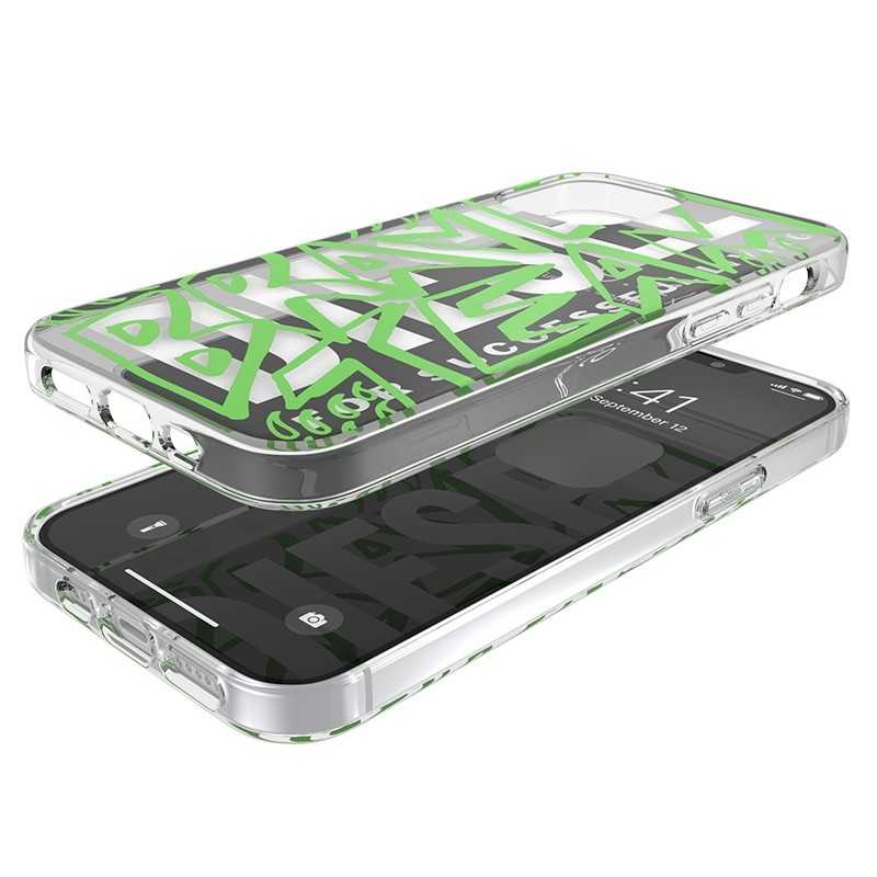 Diesel Snap Case Clear iPhone 12 / 12 Pro 6.1 green white 06