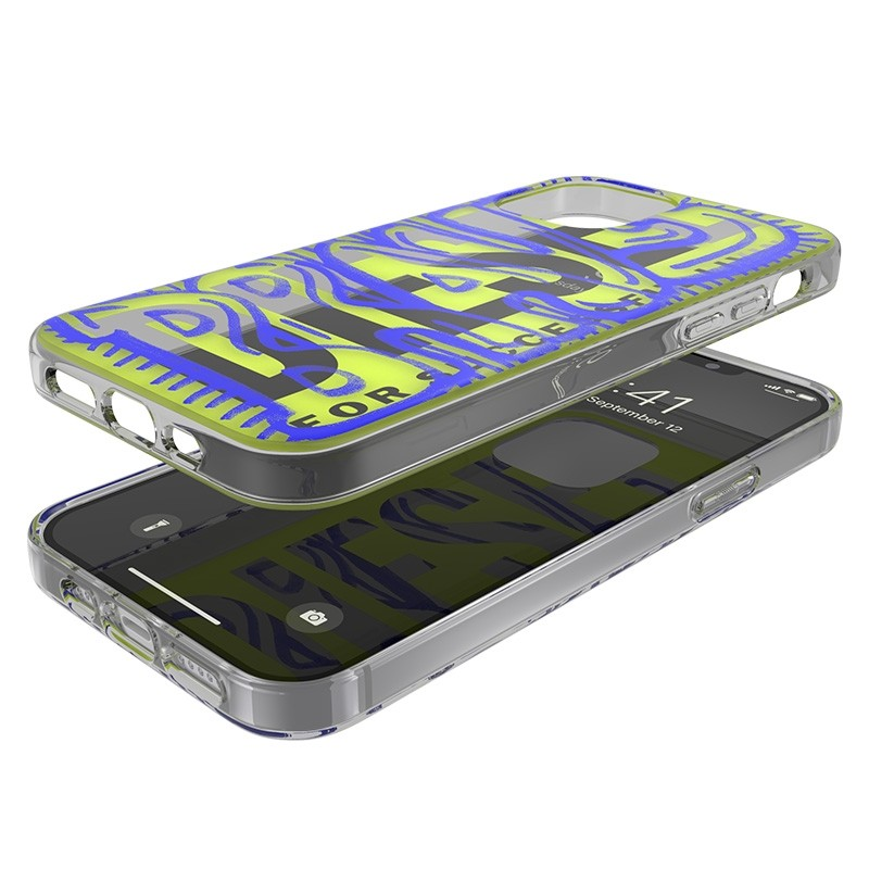 Diesel Snap Case Clear iPhone 12 / 12 Pro 6.1 clear blue white 06